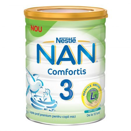 Nestle NAN Бебешко адаптирано мляко 3 Comfortis  12м+ 800 гр.